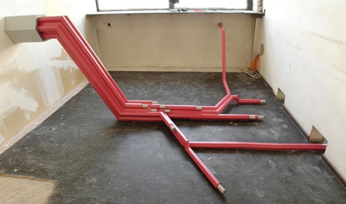 Datenkabel, 2006, installation, © Matthias Männer, Courtesy Gallery Dina4 Projekte, Munich