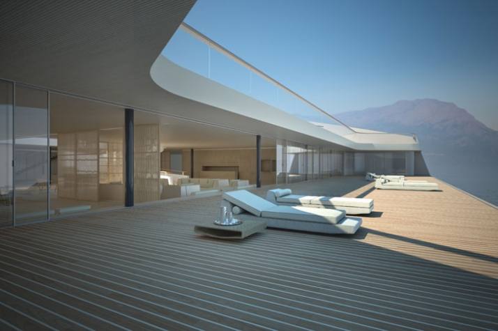 3D exterior image //Courtesy of Wally Hermès Yachts