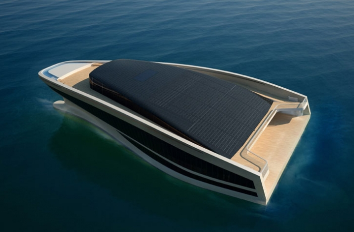 3D exterior image // Courtesy of Wally Hermès Yachts
