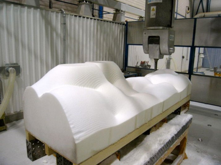 Image from the making of the brainwave sofa // Courtesy of Unfold & Lucas Maassen