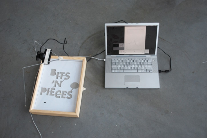 Debug : an experimental machine that prints artwork with the help of insects // designed by Edhv for Bits n' Pieces exhibition