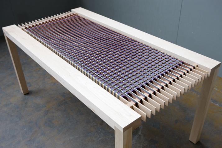 Telephone Wire Table // Image Courtesy of Charlotte van den Brand