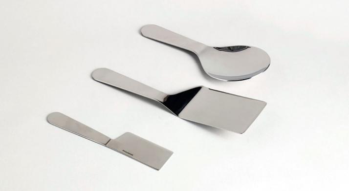 'Accento' cutlery, by Konstantin Grcic, for Serafino Zani photo © Beppe Brancato Image Courtesy of Wallpaper