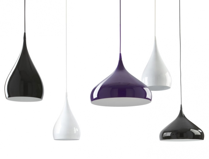 Spun aluminium pendant lights with gloss laquered finish Ø 400/240 mm manufactured by Unique Copenhagen