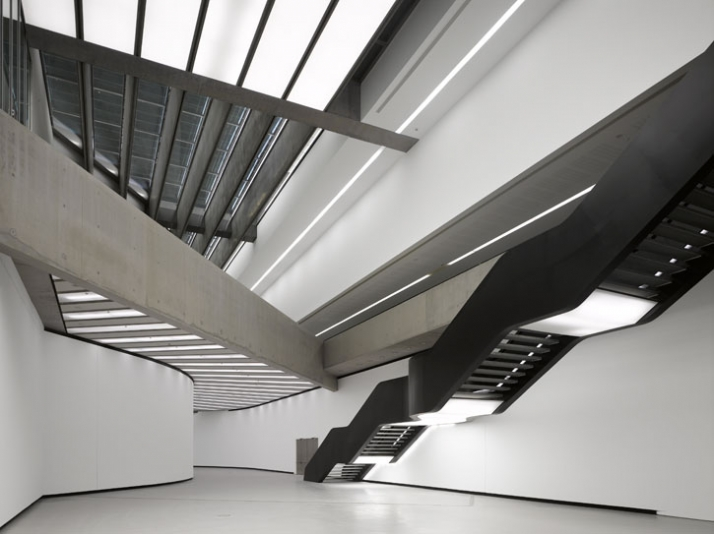 MAXXI National Museum of 21st Century Arts  Rome  2009 Zaha Hadid Museum Interior