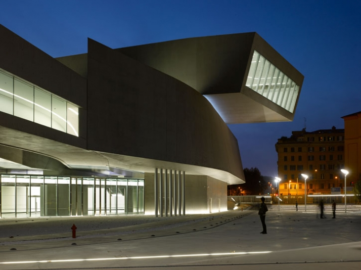 MAXXI National Museum of 21st Century Arts, Rome, 2009. photo © Roland Halbe Image Courtesy of Zaha Hadid Architects