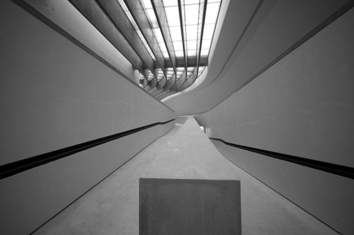 MAXXI National Museum of 21st Century Arts, Rome, 2009. Image Courtesy of Zaha Hadid Architects