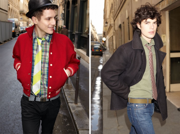 right: Cashmere and silk tie, Hermès // Autumn - Winter 2009, photo by Benjamin NITOT left: Heavy silk tie, Hermès // Autumn - Winter 2009, photo by B