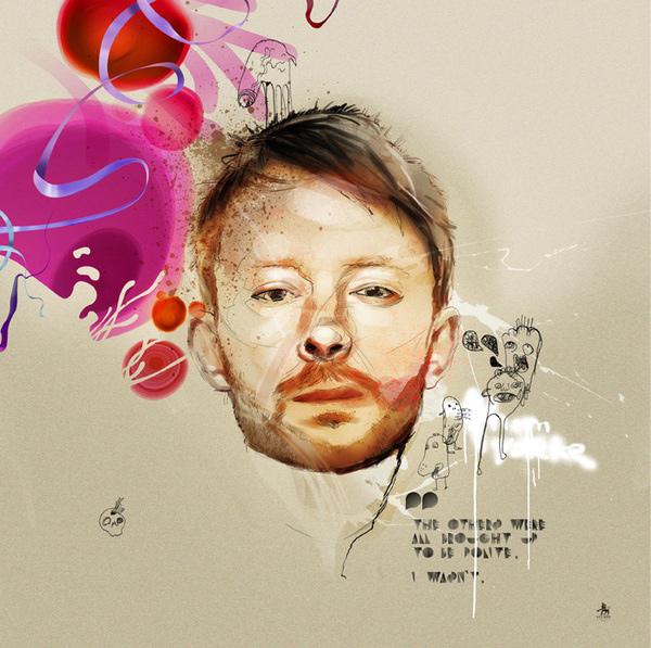 Radiohead's singer Thom Yorke by Kxx