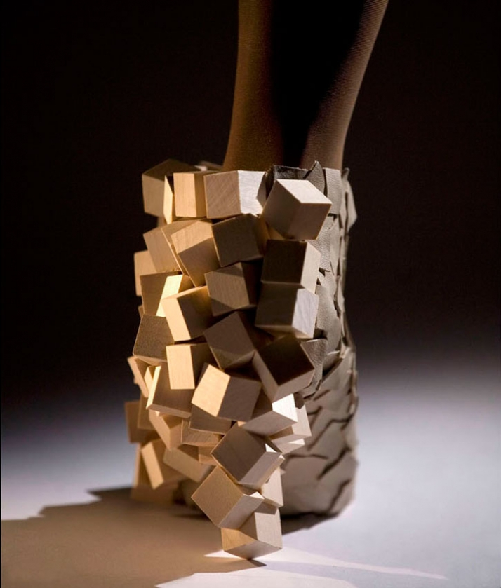 """""""Form & Texture"""" (Leather & Sycamore wood) photo by Ian Murphy"""