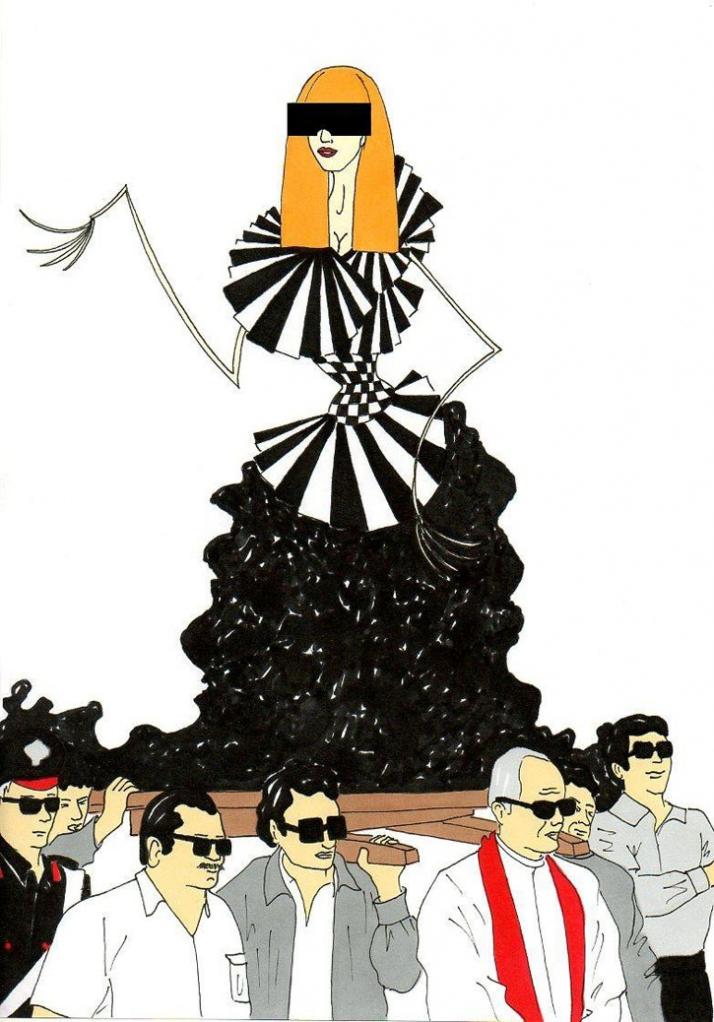 Lady Gaga, scandalous righteousness Illustration by aleXsandro Palombo