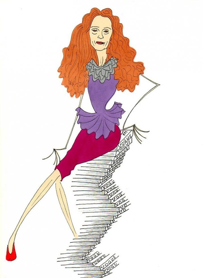 Madame Grace Coddington, the Painter of Vogue Illustration by aleXsandro Palombo