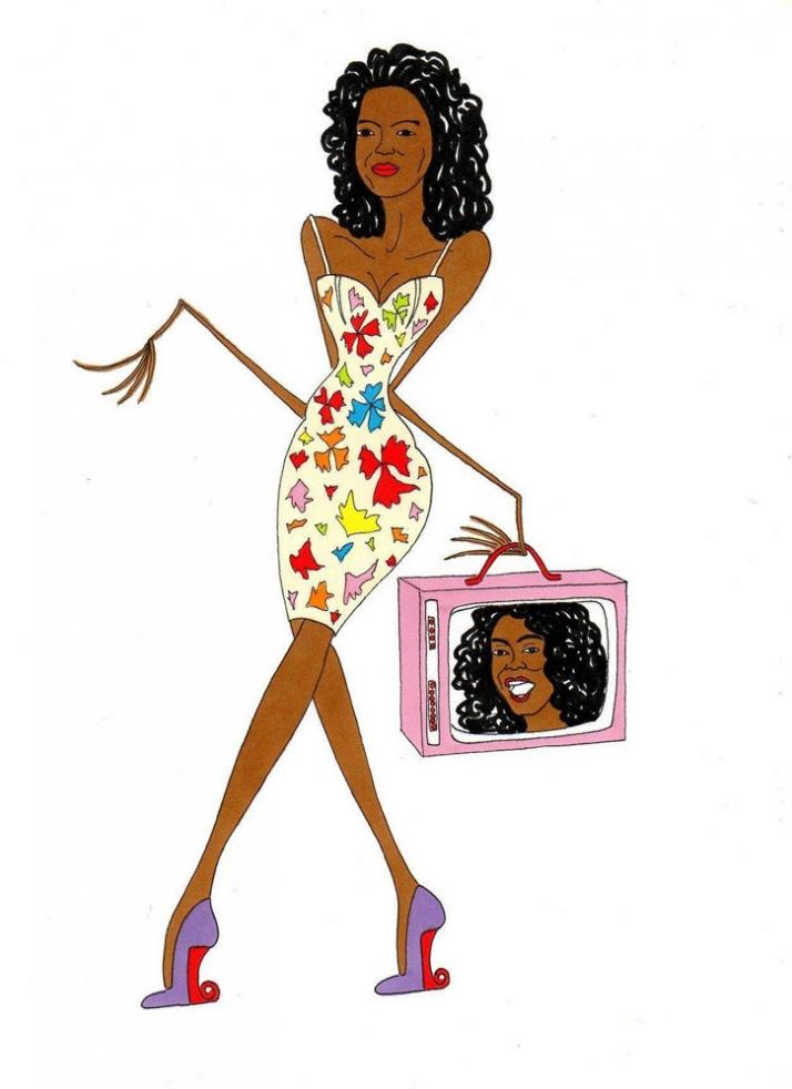Oprah Winfrey, visual torment Illustration by aleXsandro Palombo