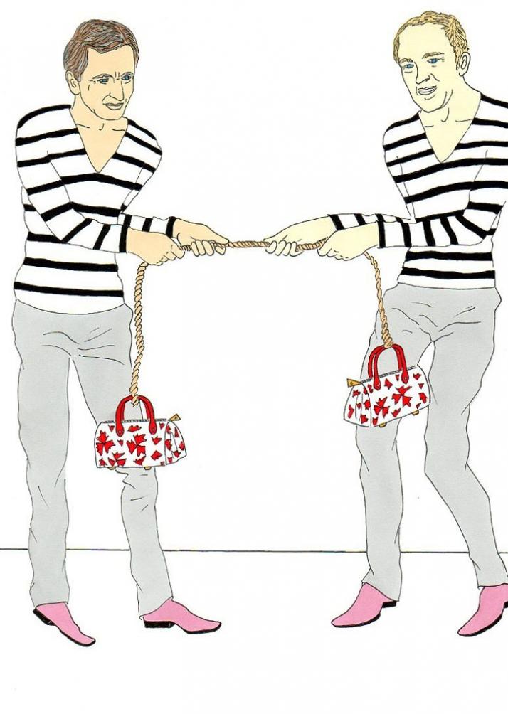 Bernard Arnault and François-Henri Pinault, play buddies Illustration by aleXsandro Palombo