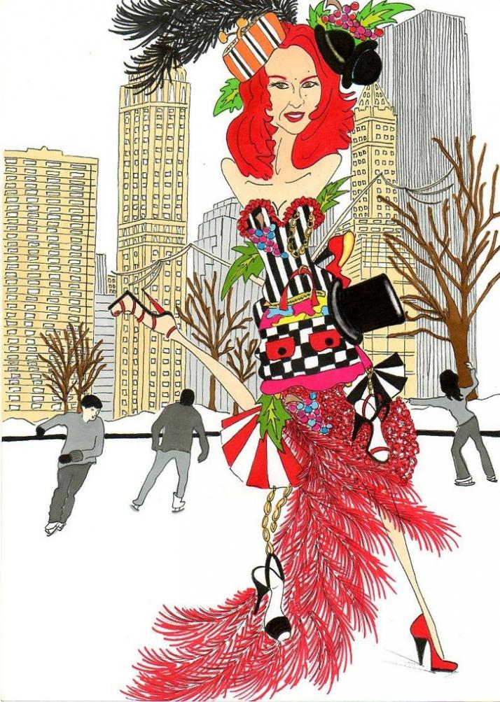 Patricia Field, passion and seduction Illustration by aleXsandro Palombo