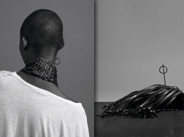MEM 0005 // Woven leather necklace Image Courtesy of Mode en Module