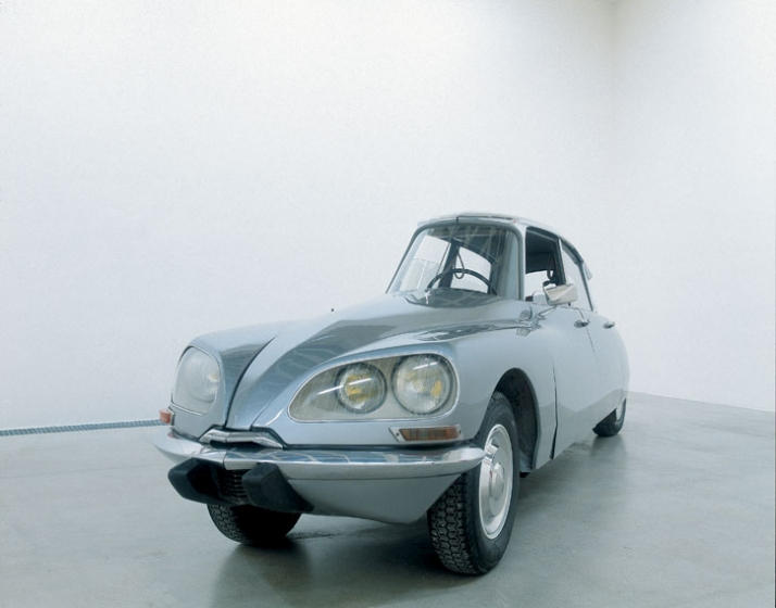 "Gabriel Orozco. (Mexican, born 1962) La DS. 1993 Modified Citroën DS, 55 3/16"" x 15' 9 15/16"" x 45 5/16"" (140.1 x 482.5 x 115.1 cm) Fonds national d'a"