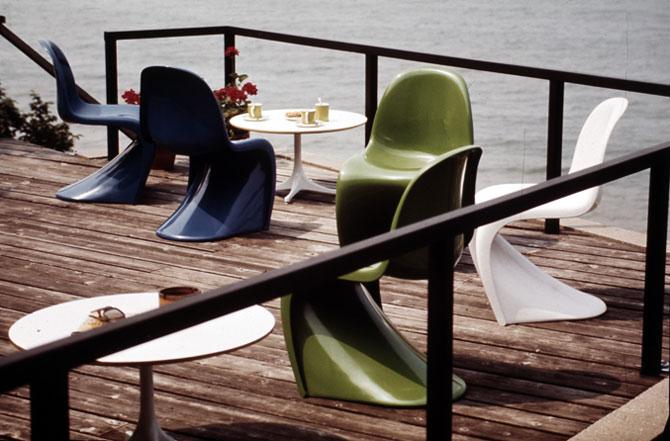 panton chair turns 50 yatzer. Black Bedroom Furniture Sets. Home Design Ideas
