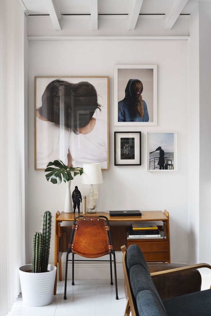 // artworks by Naia del Castillo, Luis Macias, Diane Arbus, Wolfgang Tillmans // table Lamp by Maison Martin Margiela // chair by Charlotte Perriand