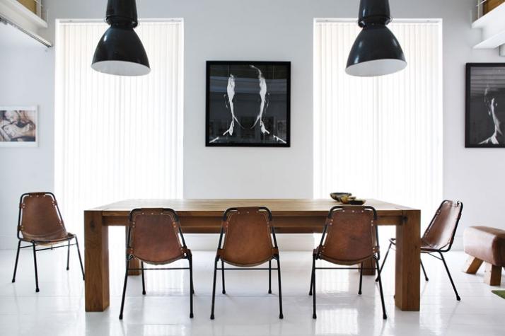 // artworks by Gorka Postigo // chairs by Charlotte Perriand Photo © Manolo Yllera