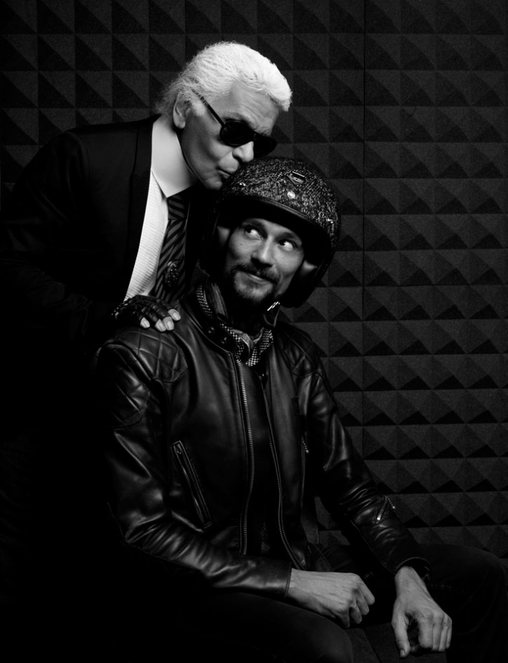 Karl Lagerfeld & Jérôme Coste // Image Courtesy of Les Ateliers Ruby