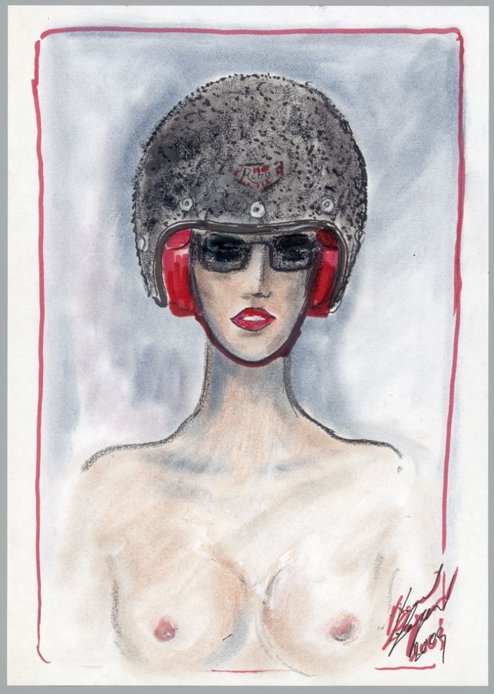 sketch by Karl Lagerfeld for Les Ateliers Ruby