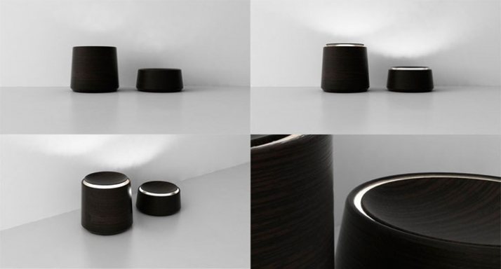 Jar Lamps // Lathed wooden desklamps with rotating lids which act as switches to control the light intensity. Mat: Oak. // Dim: 125x280mm - 250x280mm