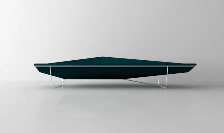 Iceberg sofa // A sofa which plays with the idea of the user sinking into it and challenges the idea of comfort. We hope people will be able to get up