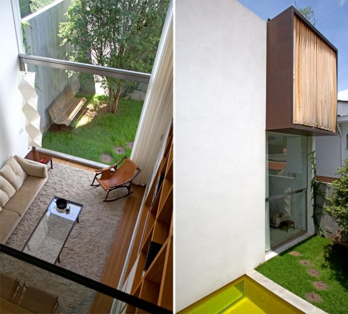 350m², Casa Vertical, Sao Paolo, Brazil // 2006 photo © Leonardo Finotti // Image Courtesy of Isay Weinfeld