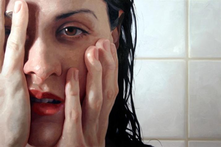 """""""Wake"""" 2009, 40x60, oil on linen. © Alyssa Monks  Image Courtesy of Alyssa Monks"""