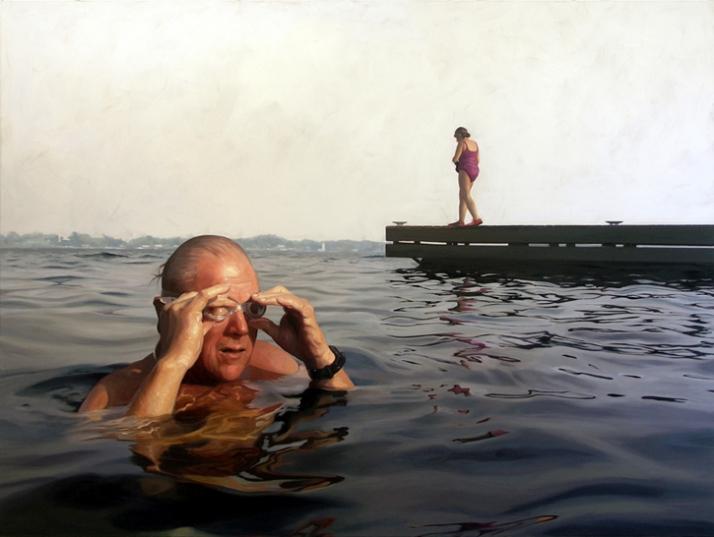 """""""The Race"""" 2007, 72x96, oil on linen. © Alyssa Monks  Image Courtesy of Alyssa Monks"""