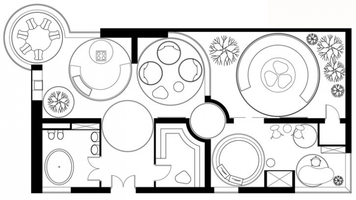 Floor plan // Image Courtesy of Sergery Mahno