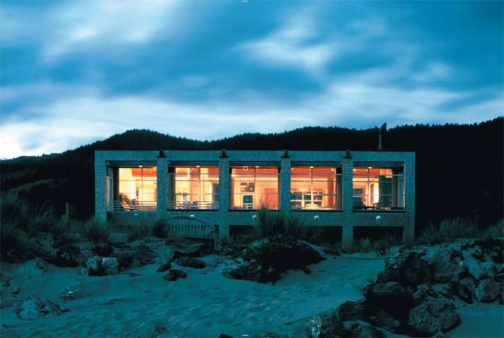 East elevation of Aptekar Residence in Stinson Beach, California