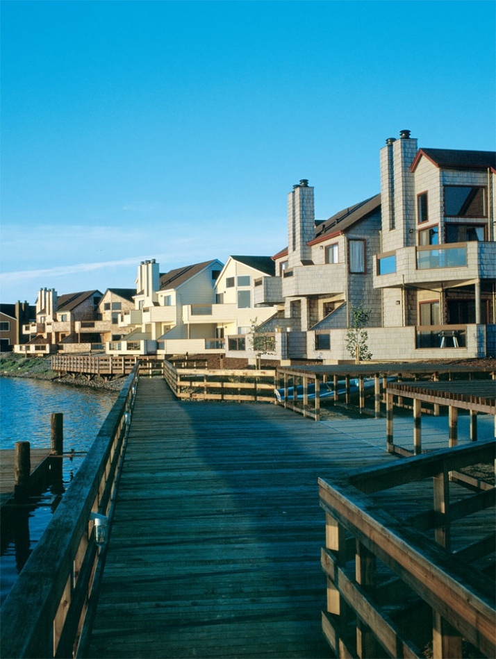 View from waterfront // Harbortown in San Mateo, California