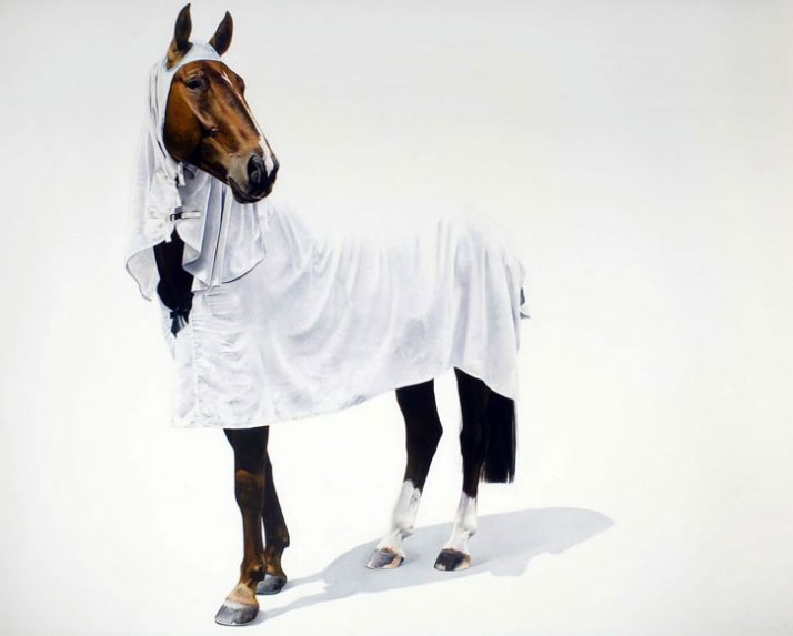 Hanoverian 190 x 250 cm, oil on canvas // © Michael Zavros 2008