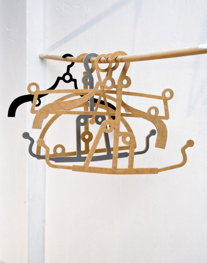 simple wooden hangers x:50 . y:35 Image Courtesy of 157+173 Designers