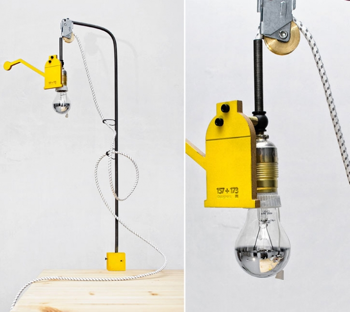 2D lights collection vertical desk lamp x:20 . y:100 Image Courtesy of 157+173 Designers