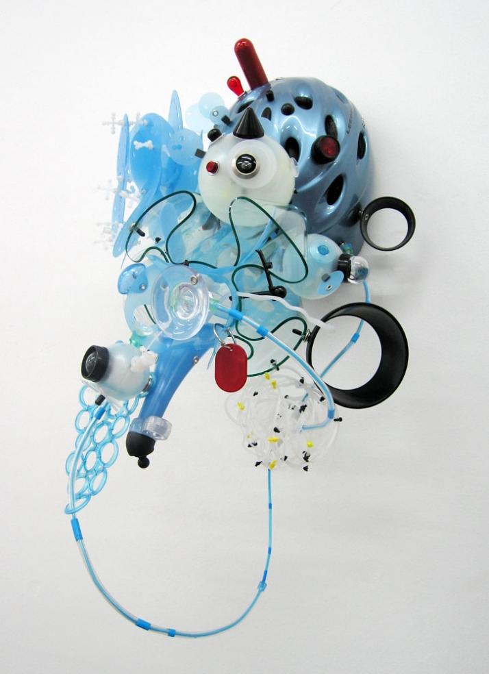 Sofi ZezmerLeedom // 2007 Metal, plastic and glass 24 x 11 3/4 x 16 1/8 inches (61 x 30 x 41 cm) SZ-071 Courtesy of Mike Weiss Gallery, New York