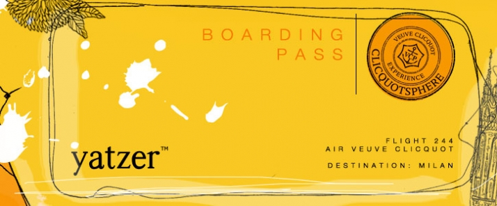 boarding pass for Yatzer // ... Veuve Clicquot AIR
