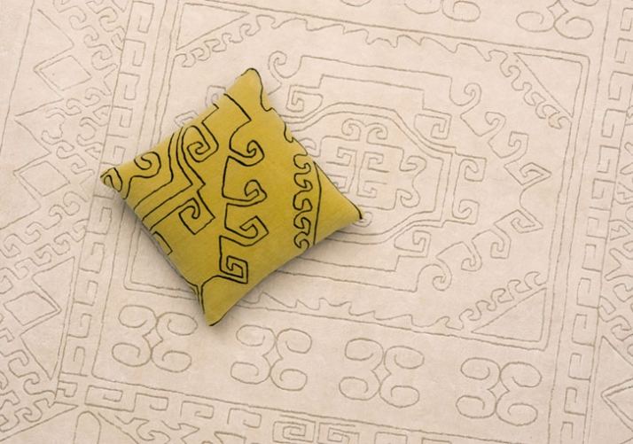 Mr Nest cushion & rug (detail) designed by Paolo Cappello