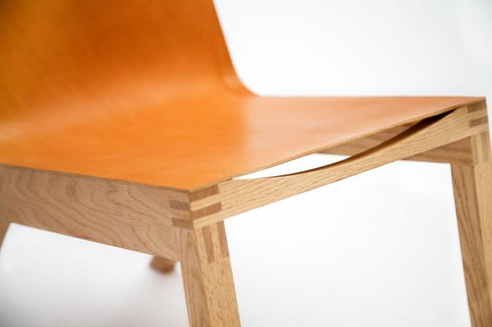 Low leather chair (detail) // photo © Ricki van der Tas