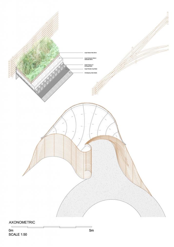 Axonometric plan, Courtesy of Groves-Raines Architects