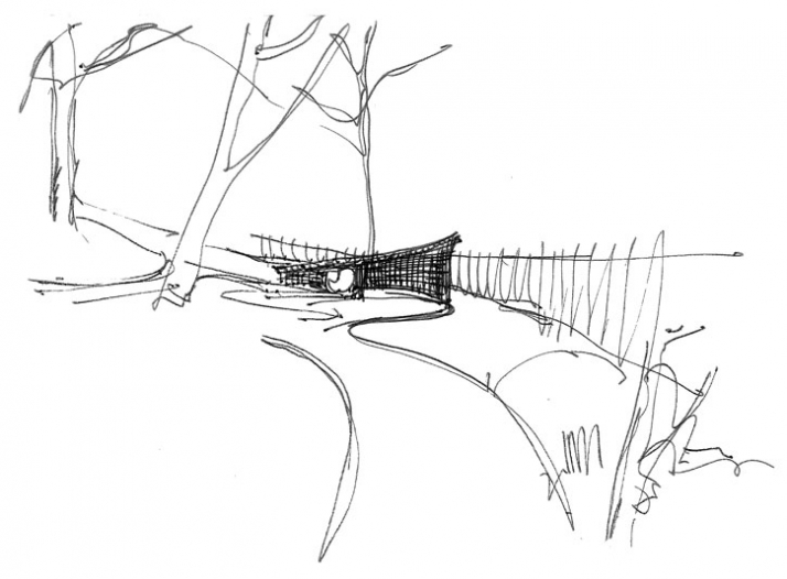 sketch, Courtesy of Groves-Raines Architects