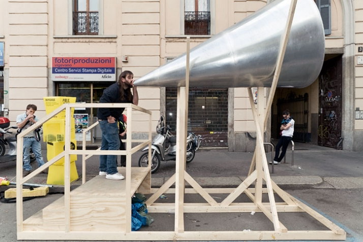 Megafono by Italian Cristiano Cremaschini, photo by Matteo Girola
