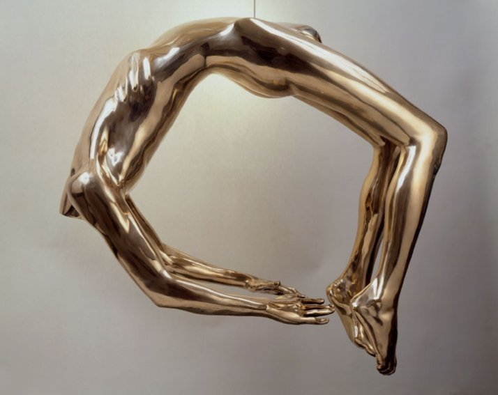"""Louise Bourgeois ARCH OF HYSTERIA, 1993 Bronze, polished patina, hanging piece 33 x 40 x 23""""; 83.8 x 101.6 x 58.4 cm. Courtesy Cheim & Read, Hause"""
