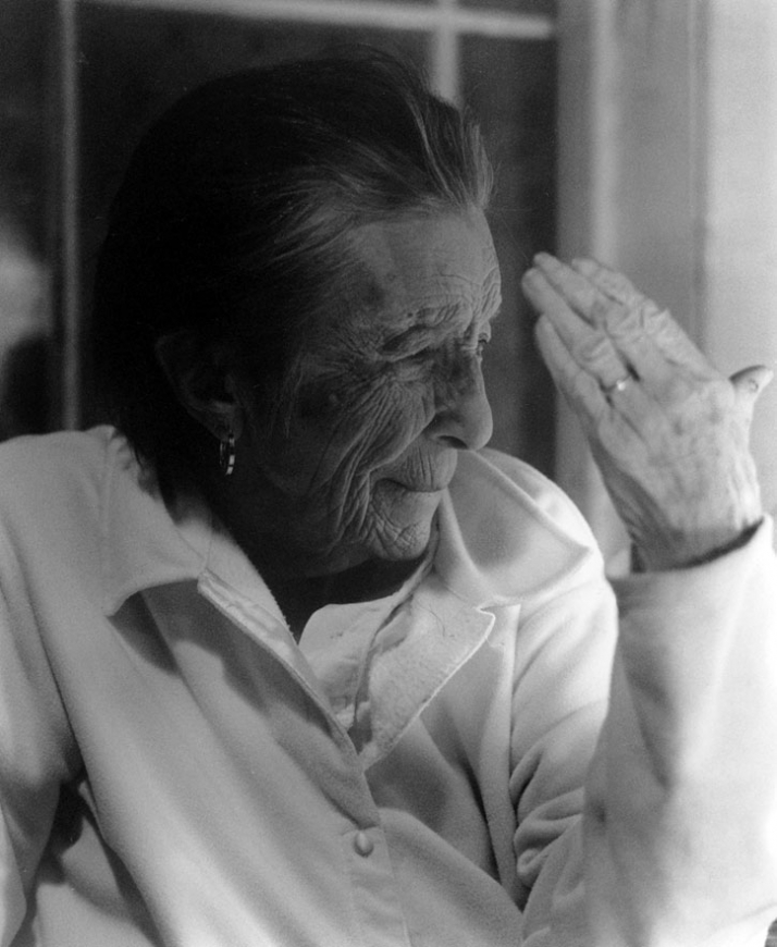 Louise Bourgeois, 2003. Photo: Nanda Lanfranco