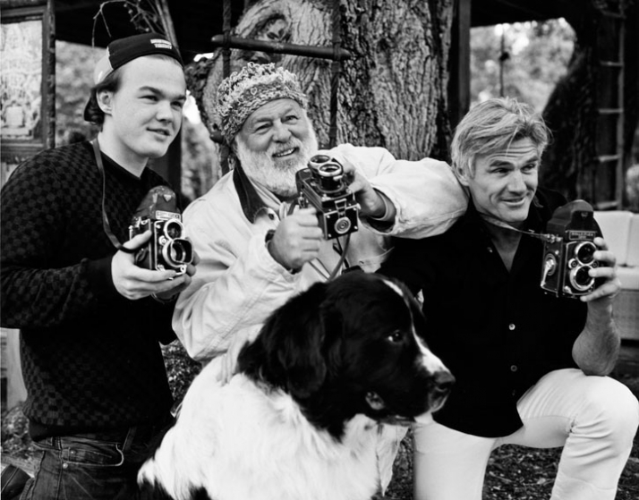 "Bruce Weber (center) // making of ""Coming home"" campaign // Image Courtesy of DEDON"