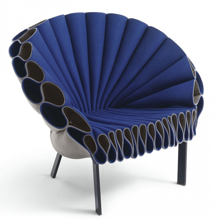Peacock armchair by Dror for Cappellini // © Dror Studio