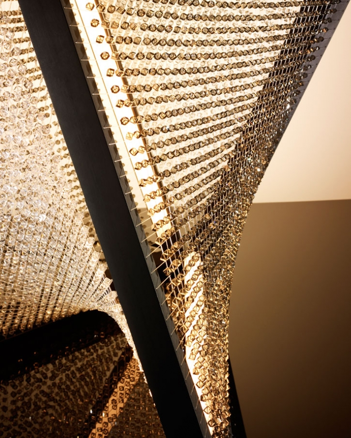 Floor Chandelier (detail) for Swarovski // © Dror Studio