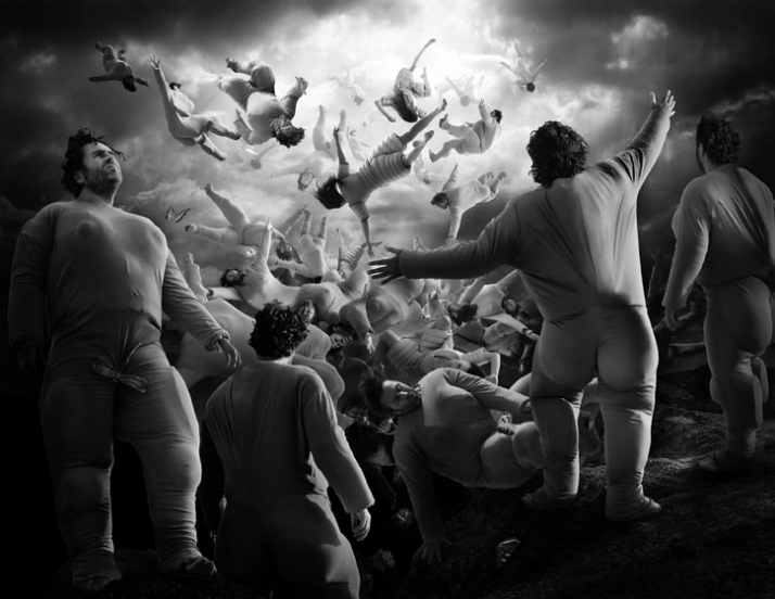 "Ralph Baiker ""Fall of the Titans"", 2010 Gelatin silver print on baryth paper 100 x 129 cm Ed. 2 + 1 a.p. Courtesy: Mirko Mayer galerie / m-projects"